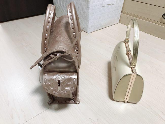 カービングバッグと着物バッグの比較