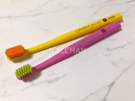 クラプロックスの歯ブラシは色のコントラストが素敵